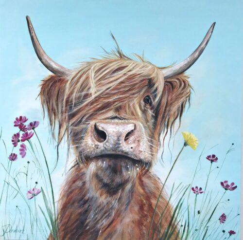 Ronald Jnr Highland Cow Art Pankhurst Gallery