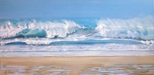 Spindrift Seascape Coast Art Pankhurst Gallery