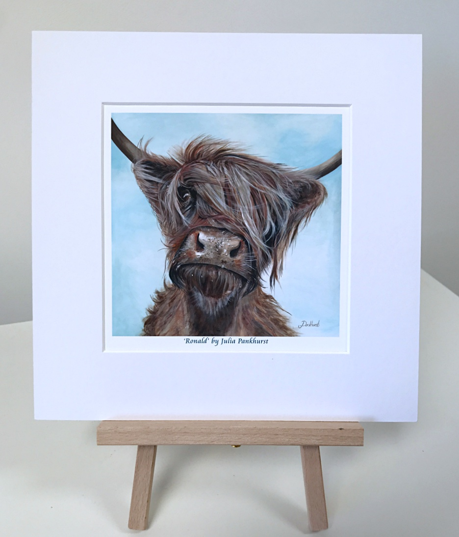 Ronald Highland Cow Pankhurst Gallery