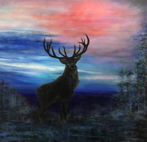 Red Stag at Dusk