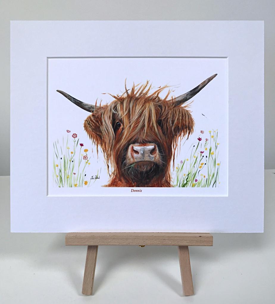 Dennis Highland Cow Pankhurst Gallery