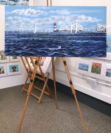 White Wings at the Needles, Isle of Wight, Pankhurst Gallery