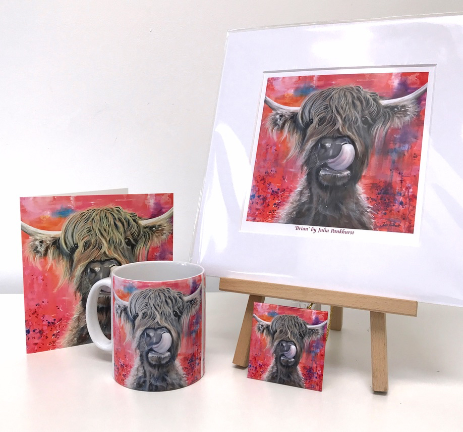 Brian Highland Cow Gift Collection Pankhurst Gallery