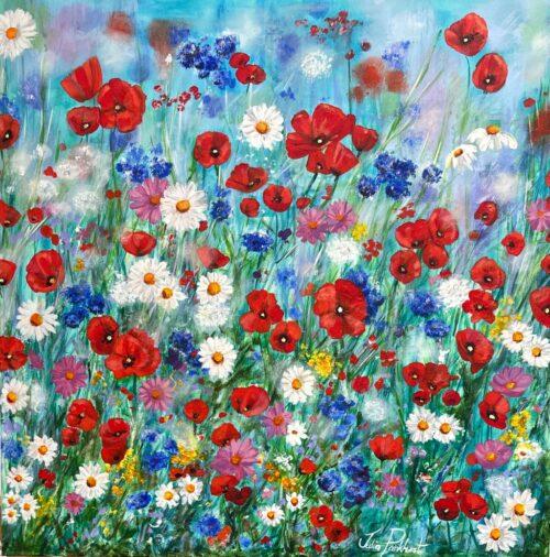 Poppy wildflowers Pankhurst Gallery original painting
