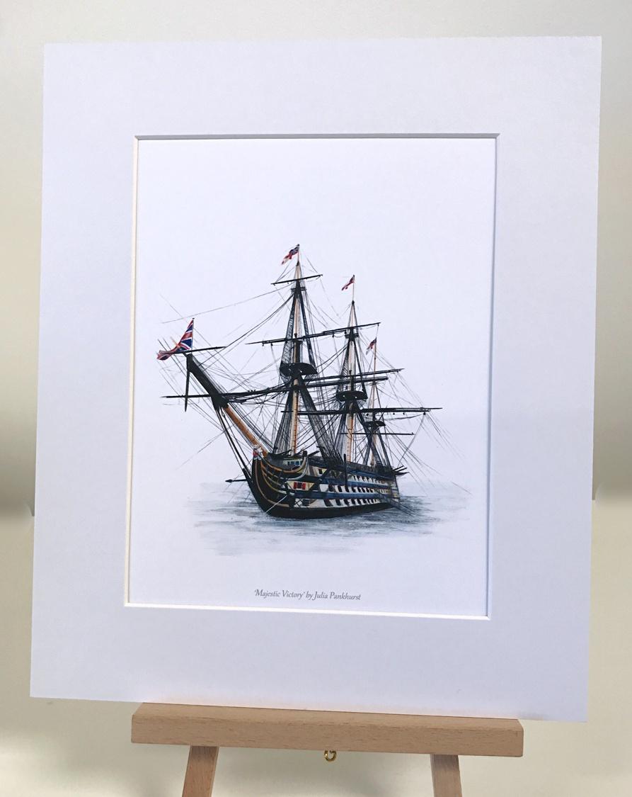 Majestic Victory Historic Ship Art Print Gift Pankhurst Gallery