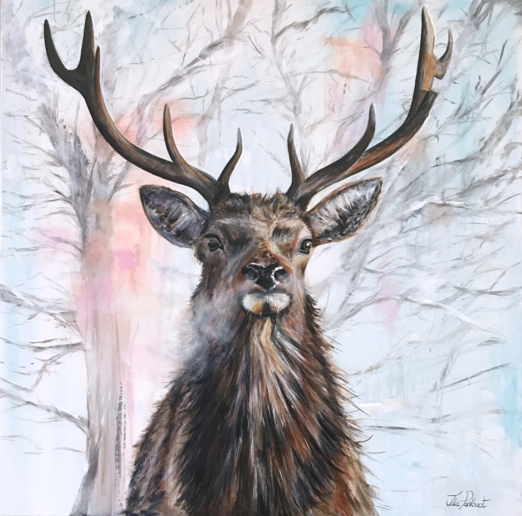 Red Stag Painting
