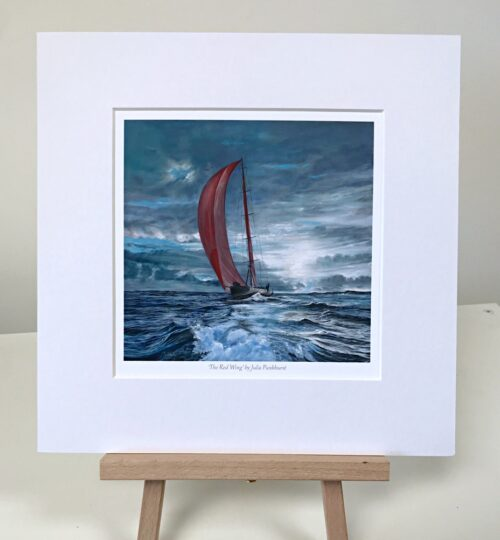 The Red Wing Yacht Boat Sailing Seascape Art Print Gift Pankhurst Gallery