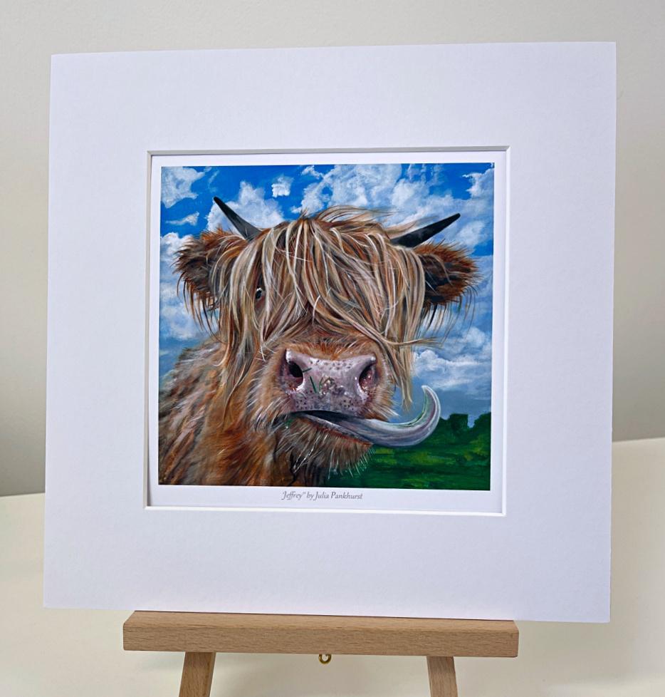 Highland Cow Jeffrey Gift Art Print Pankhurst Gallery