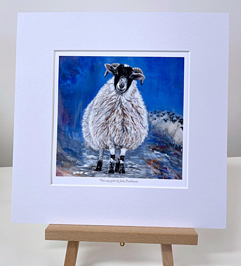 This Way Sheep Animal Art Gift Print Pankhurst Gallery