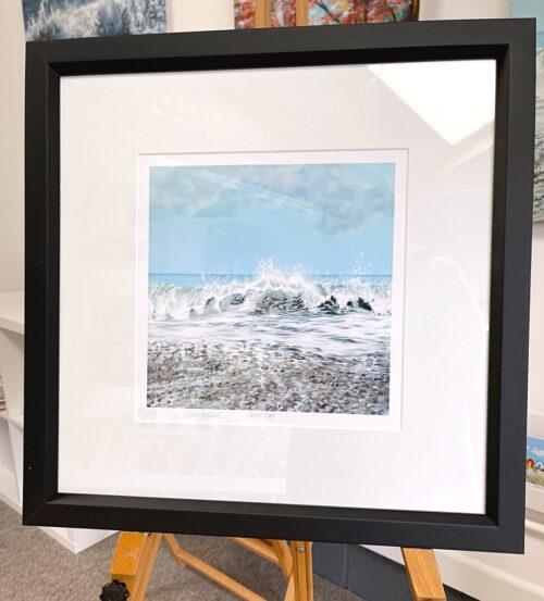 Great Surf Seascape Art Crashing Waves Pankhurst Gallery Frame Display