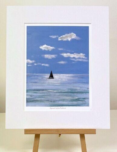 Quietude yacht sailing Seascape Art Mini print gift Pankhurst Gallery