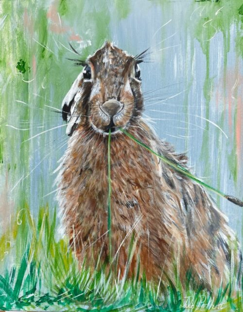 Claire the Hare Woodland Animal Art Pankhurst Gallery
